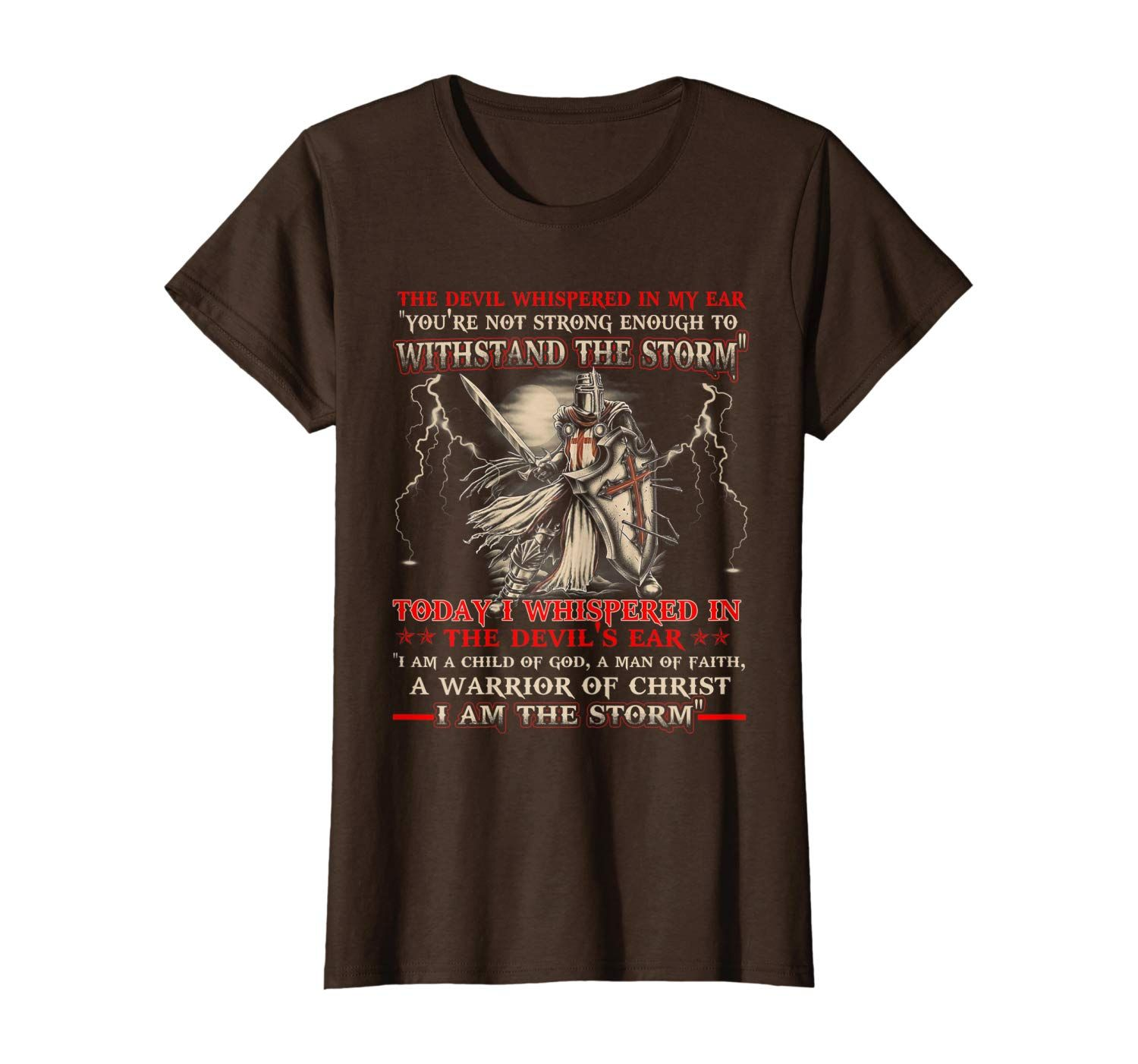 Knight Templar I Am The Storm For Men Christ Gift T-Shirt