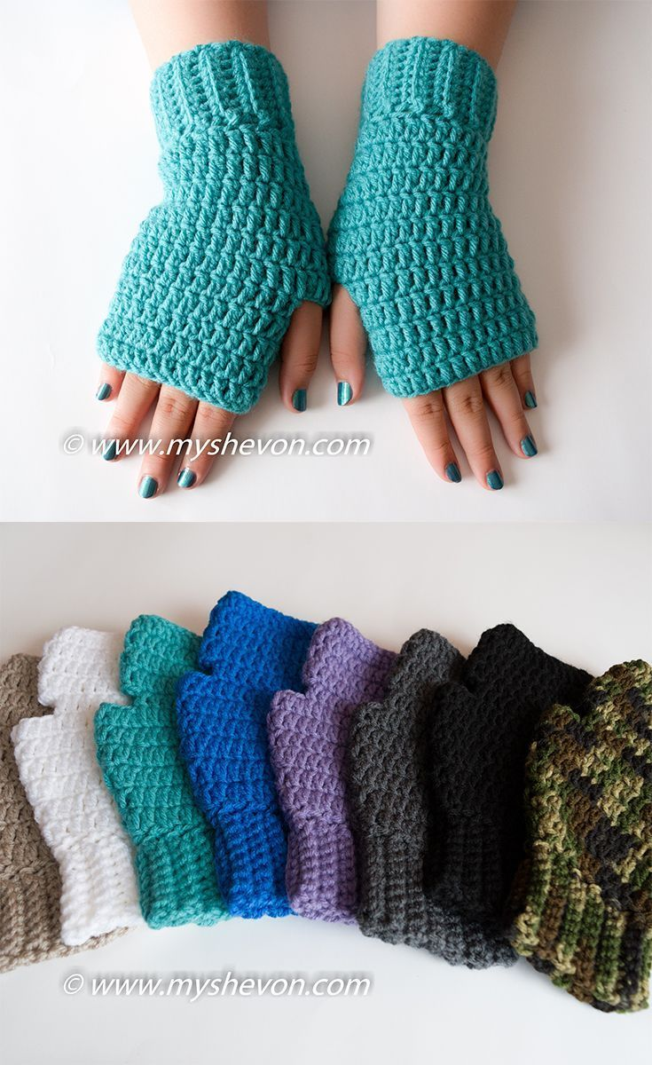 SIMPLY FINGERLESS GLOVES - FREE PATTERN - #Simple #FINAL #Free # GLOVES #Pattern